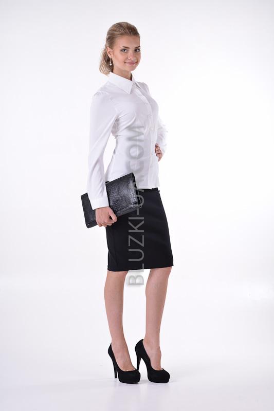 Классическая белая блузка купить