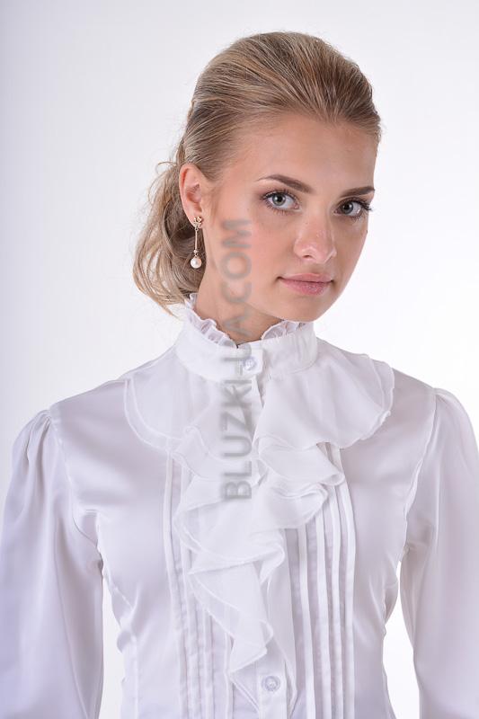 Купить Белую Блузку С Жабо В Спб